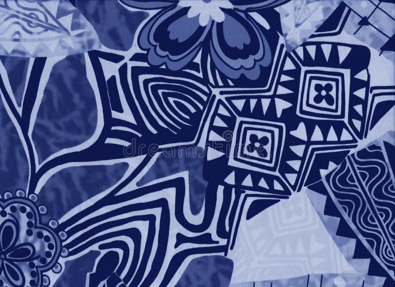 Tło z kwiatami i abstrakcjonistycznymi geometrycznymi kształtami zdjęcie stock