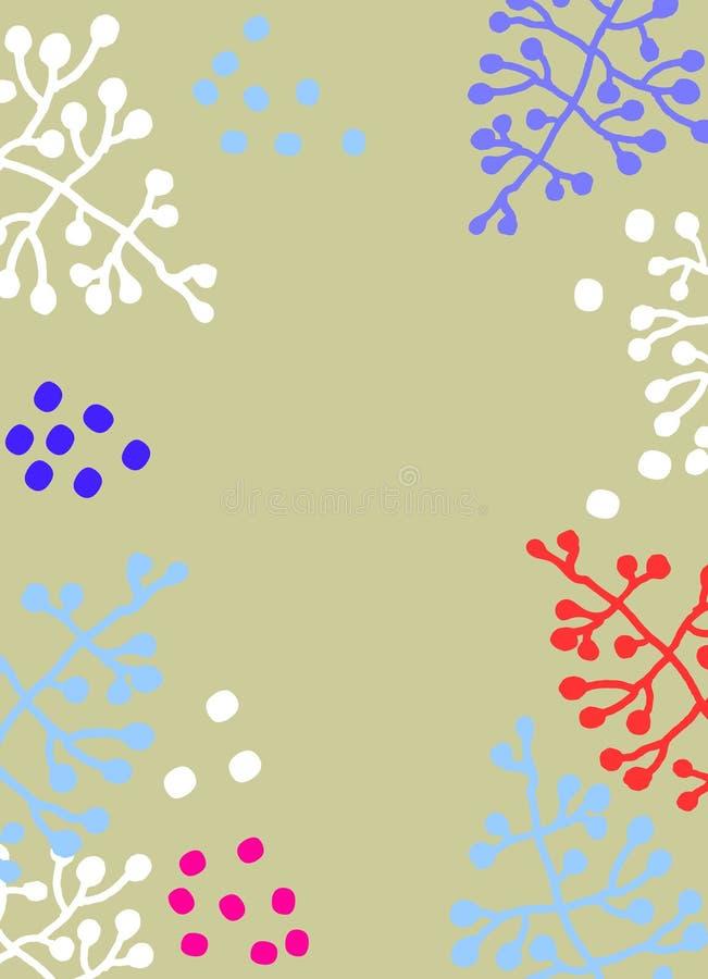 Tło z kwiecistymi motywami w skandynawa stylu R?ka rysuj?cy ramowy szablon ilustracji