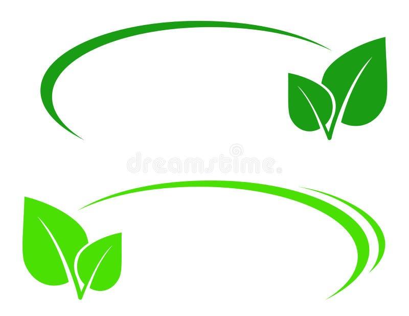 Tło z liściem i linią ilustracja wektor