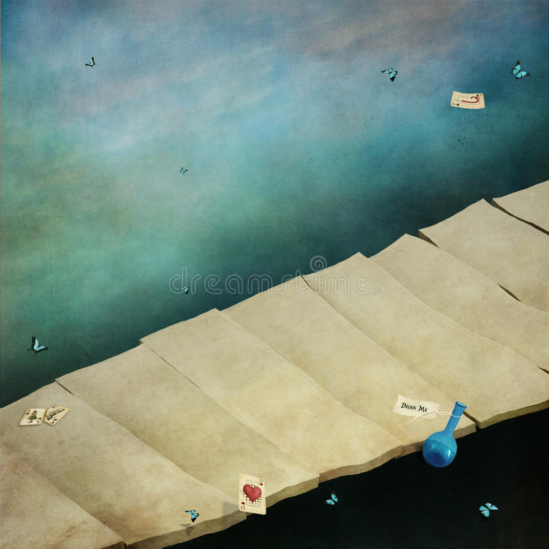 Tło z mostem ilustracji