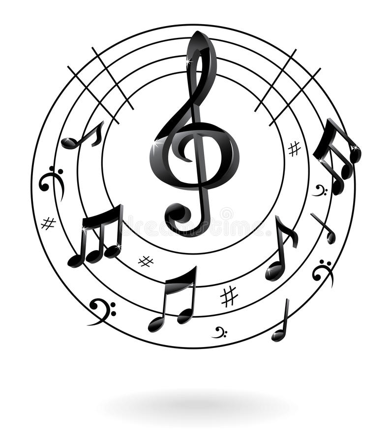 Tło z muzyki notatką. royalty ilustracja