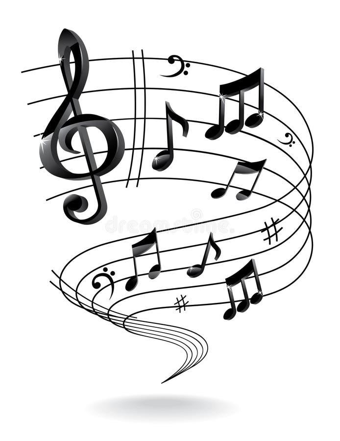 Tło z muzyki notatką. ilustracja wektor