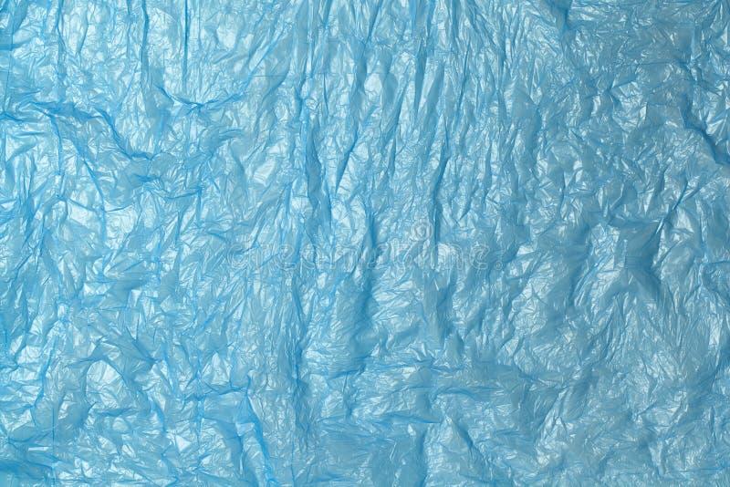Tło z niebieskiego polietylenu nadającego się do recyklingu Eco, zero odpadów, alternatywa dla plastiku Płaska warstwa Poziomo Zb zdjęcie stock