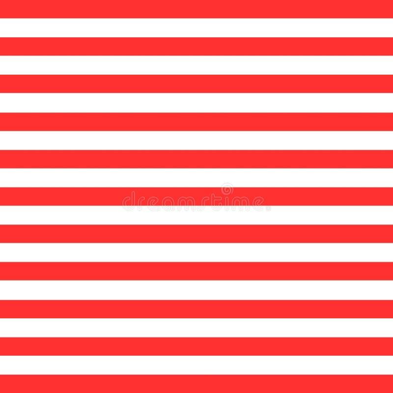 Tło z prążkami w kolorze czerwono-białym ilustracji