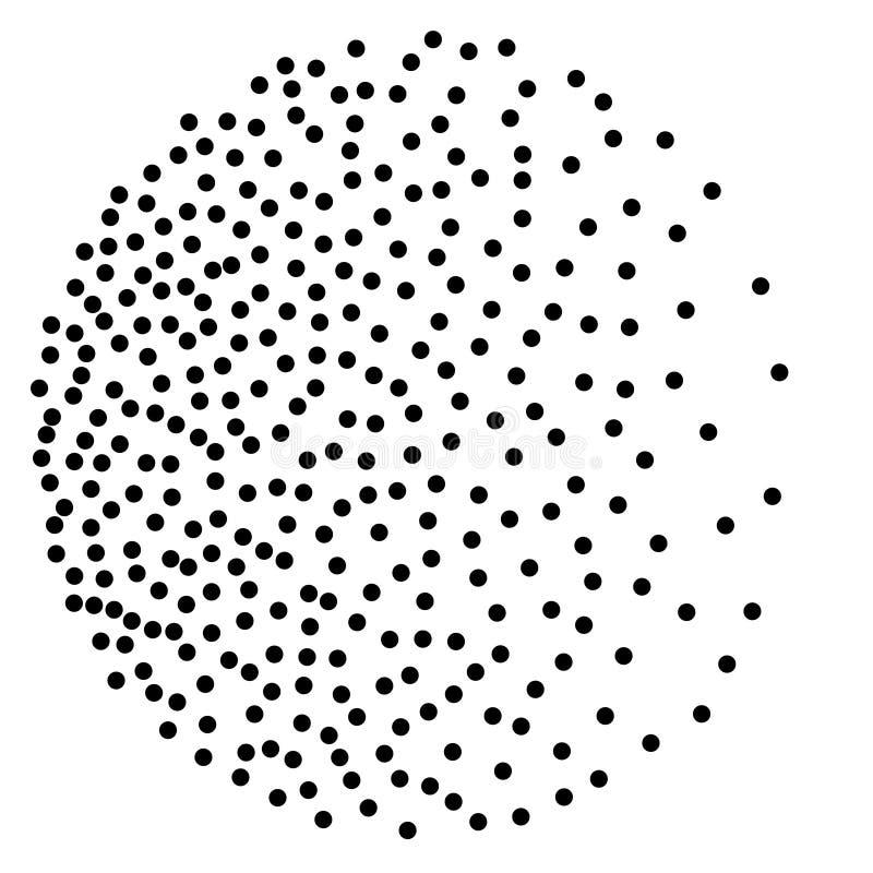 Tło z przypadkowymi ciemnymi punktami Elegancki wzór z czarnymi polek kropkami ilustracja wektor