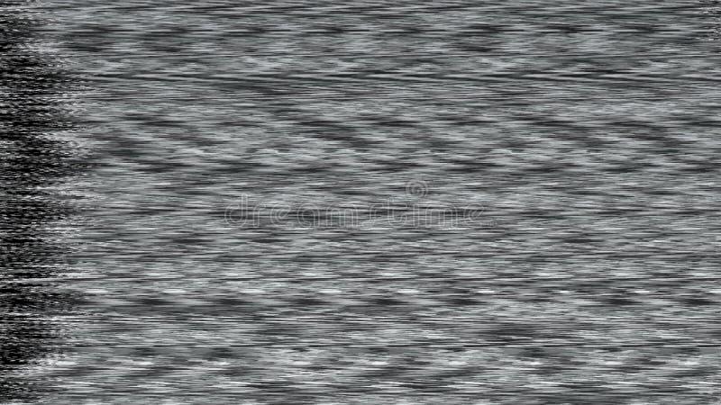 Tło z realistycznym migotaniem, analogowy TV sygnał z złą interferencją, 3D rendering ilustracji