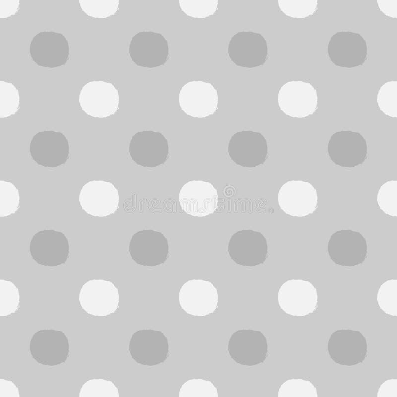 Tło z round szczotkarskimi uderzeniami Bezszwowy Polki kropki wzór ilustracja wektor