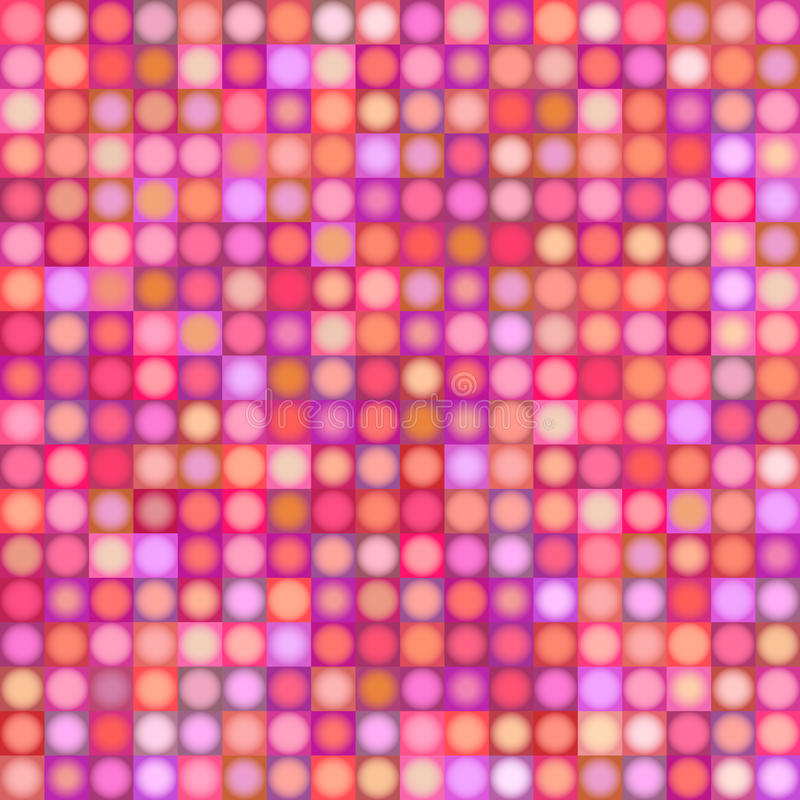 Tło z sferą i kwadrat w wielokrotność menchii czerwonym magenta ilustracja wektor