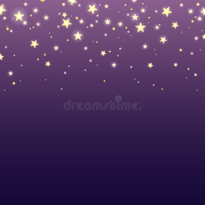 Tło z spada błyszczy gwiazdami Wektor EPS-10 ilustracji