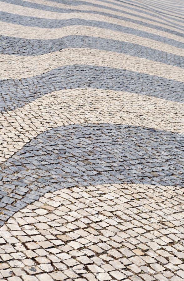 Tło z tradycyjną Portugal techniką bruk zdjęcia stock