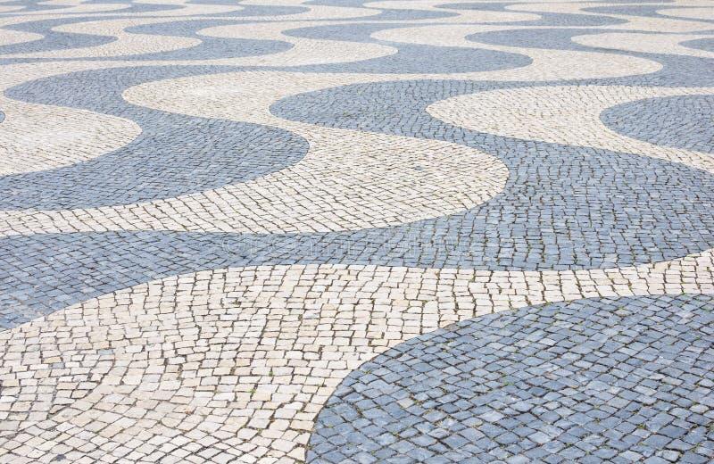 Tło z tradycyjną Portugal techniką bruk zdjęcie stock