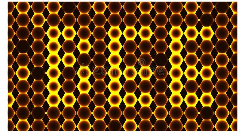 Tło z wiele jak pszczoły honeycomb i sześciokąta żółty kolor - wektorowa ilustracja ilustracja wektor