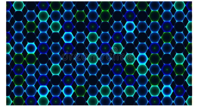 Tło z wiele sześciokąta błękitny kolor - wektorowa ilustracja ilustracja wektor