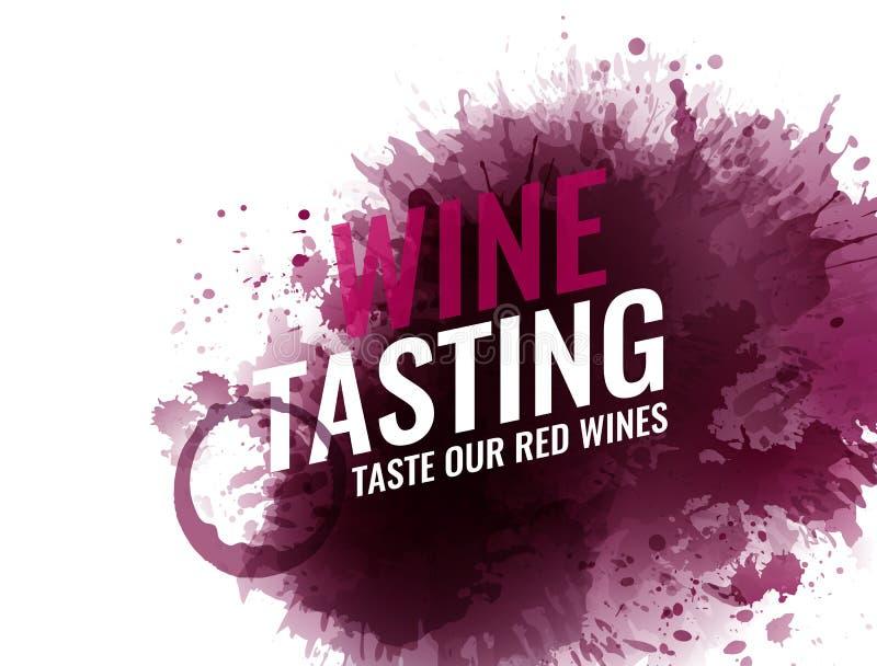 Tło z winem plami, punkty, kropli czerwone wino Win szkieł plamy Tło dla sztandarów i promocyjnych plakatów royalty ilustracja