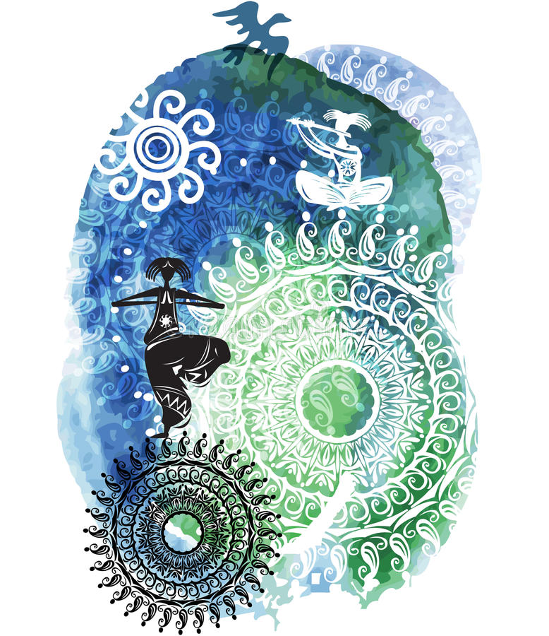 Tło z wzorem na akwareli splatters ilustracji