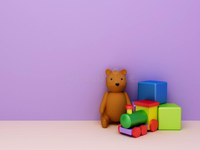 tło zabawki royalty ilustracja
