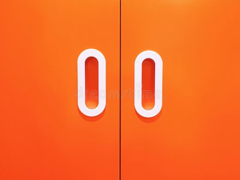 Tło Zamknięty Pomarańczowy Drewniany drzwi obraz royalty free
