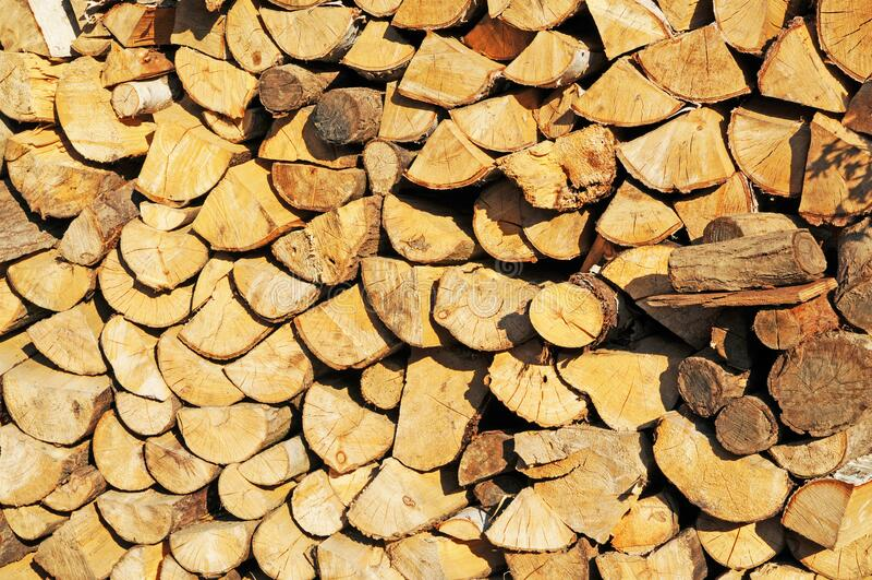 Tło zamykania drewna opałowego obraz stock