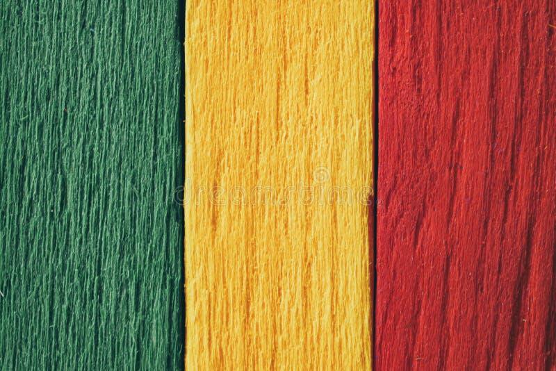 TÅ'o, zielone, żółte, czerwone, stare retro, flaga reggae zdjęcie royalty free