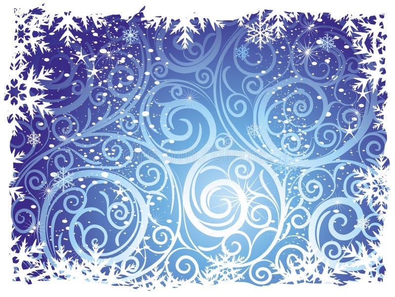 tło zima royalty ilustracja