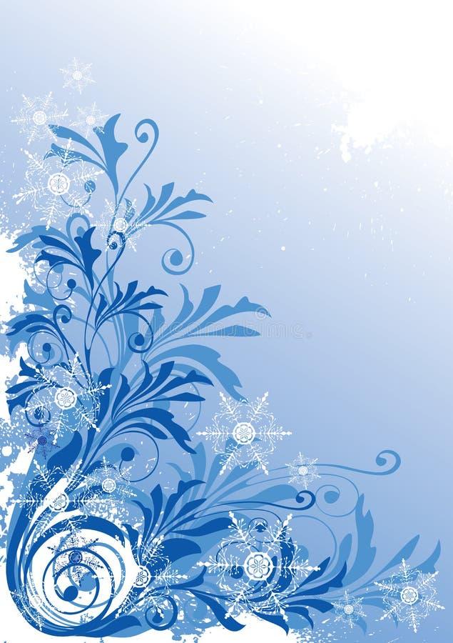 tło zima ilustracji