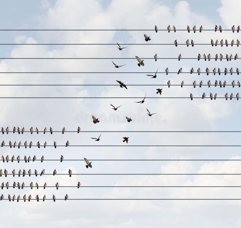 tło zmiany pojęcia ' kontra niebo niebieskie ilustracji
