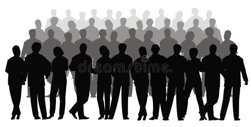 tłum biznesowe wektora