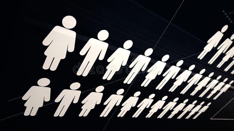 Tłum ludzi Ilustracja na czarnym tle zdjęcie royalty free