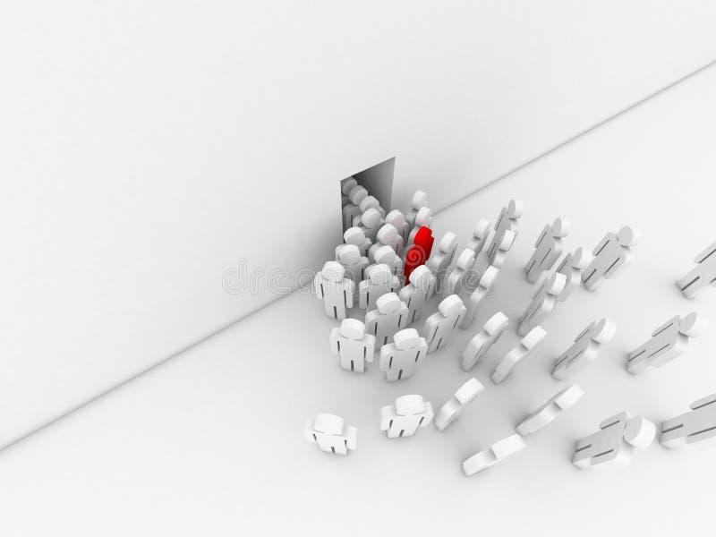 Tłum ludzie ilustracja wektor