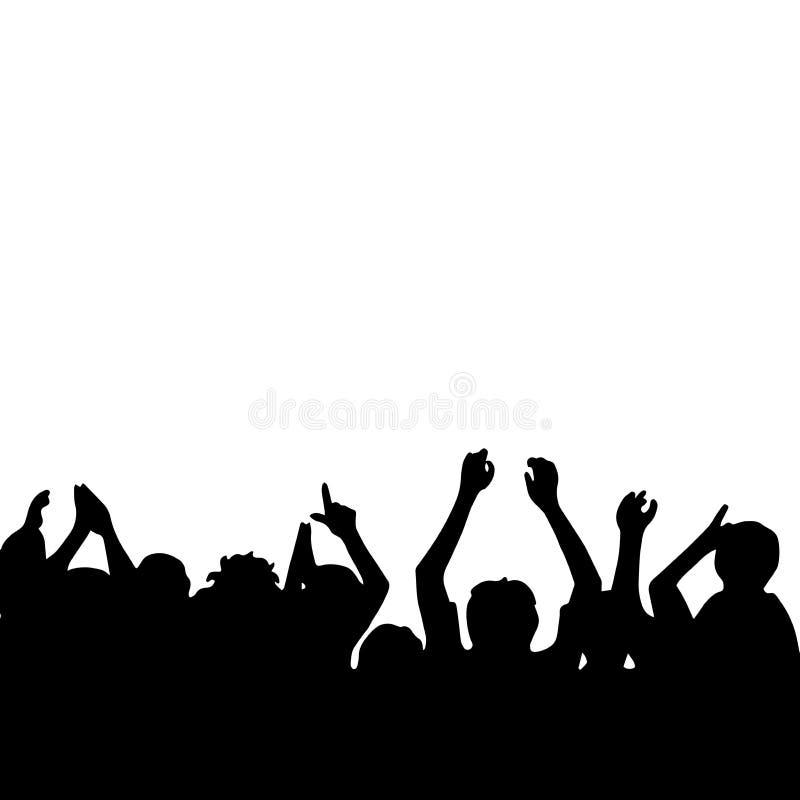Tłum ludzie ilustracji
