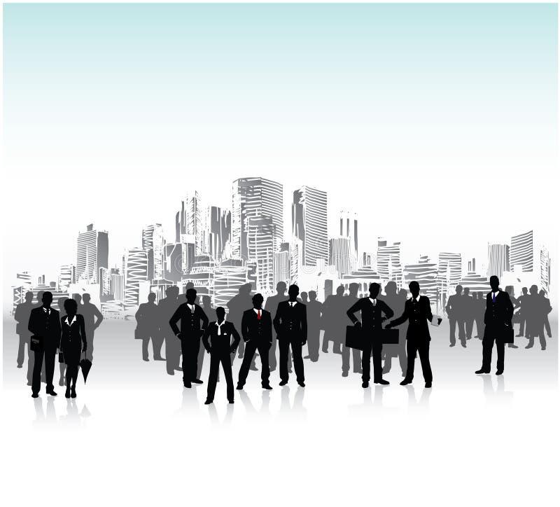 tłum miastowy ilustracja wektor