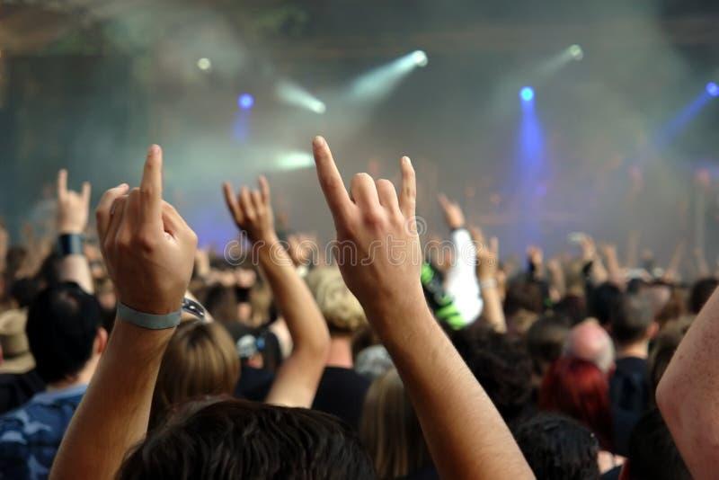 tłum na koncert fotografia royalty free