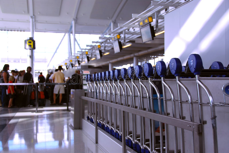 tłum portów lotniczych obraz stock