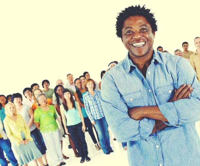 Tłum społeczności pochodzenia etnicznego różnicy Różnorodny pojęcie obraz stock