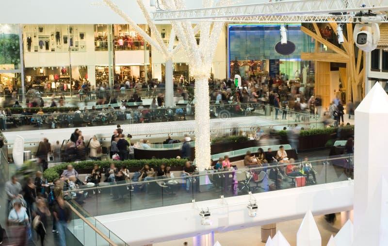 tłumu centrum handlowe obrazy stock
