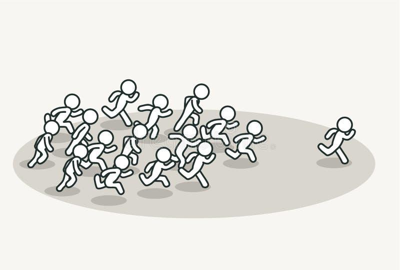 Tłumu cyzelatorstwa lider ilustracji