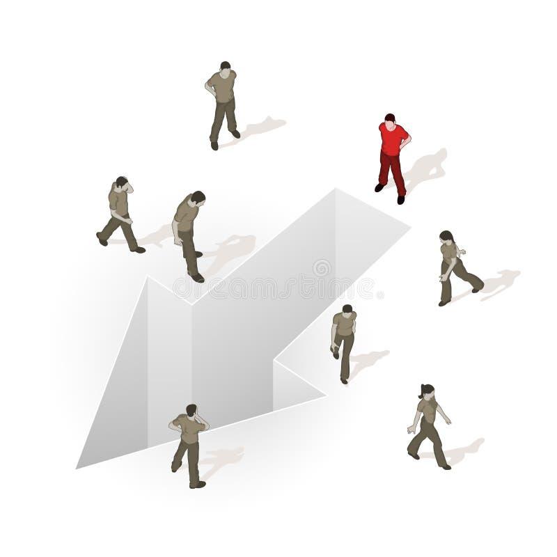 tłumu kierunku źródło twój ilustracji