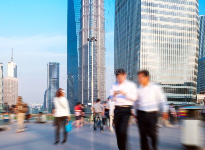 tłumu zwyczajny Shanghai przejście podziemne zdjęcie stock