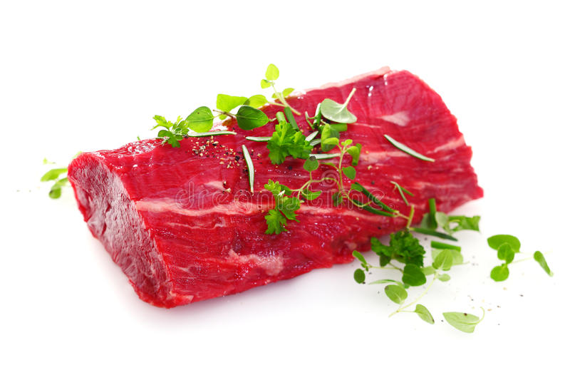 Tłustoszowaty surowy polędwicowy stek zdjęcia stock