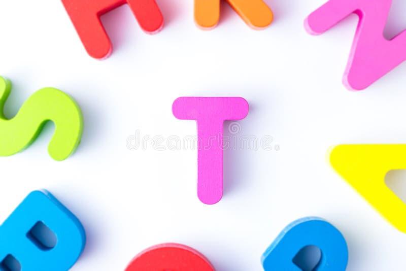T信件用英语 库存照片