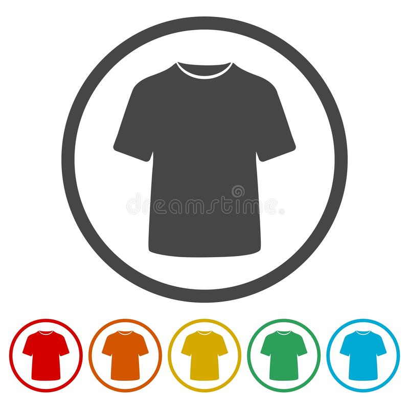 T恤杉传染媒介象,传染媒介空白T恤杉象标志 向量例证
