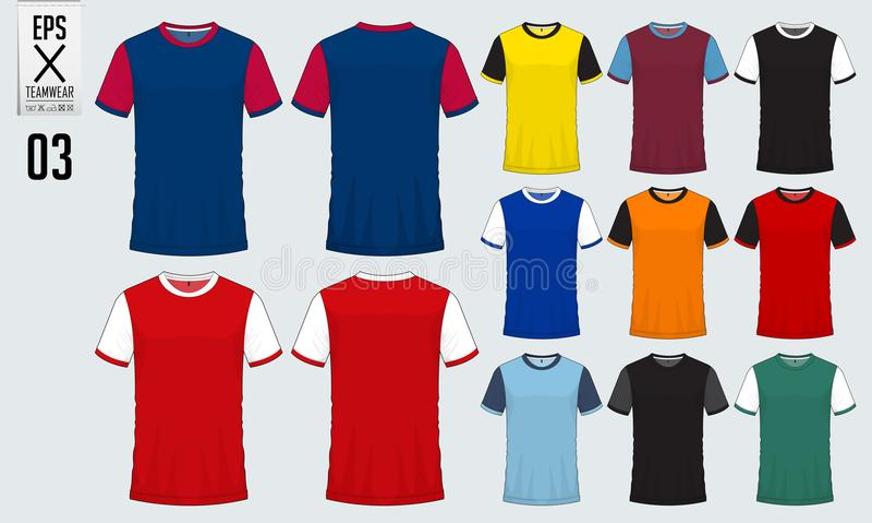 t恤杉体育足球球衣,橄榄球成套工具和无袖衫的设计模板篮球球衣的 在图片
