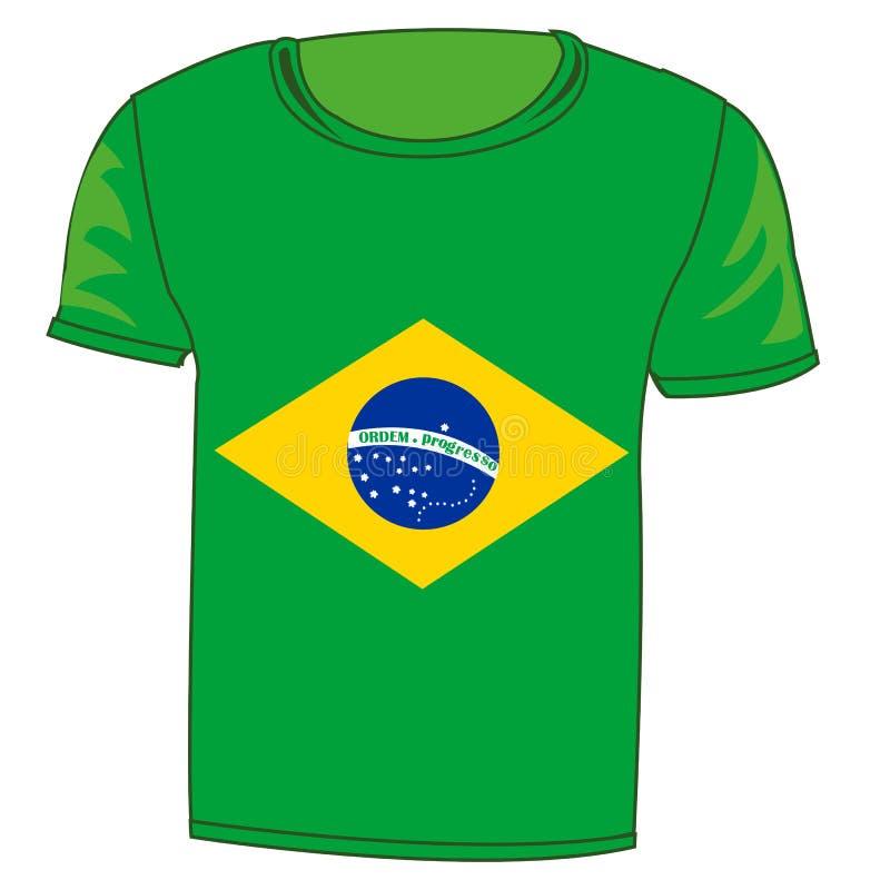 T恤杉旗子巴西利亚 向量例证