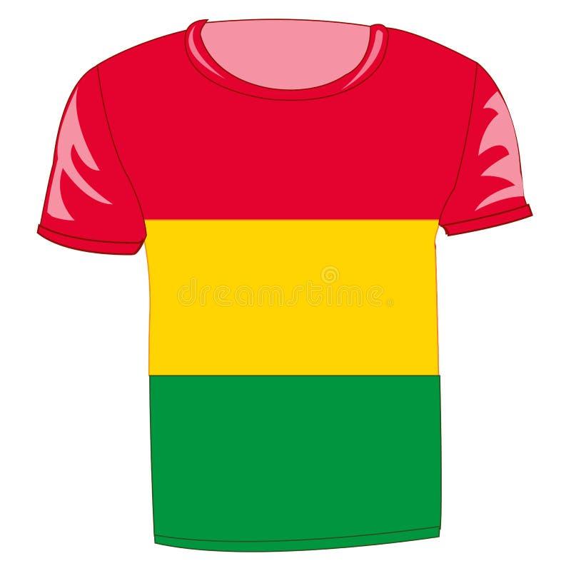 T恤杉旗子玻利维亚 向量例证