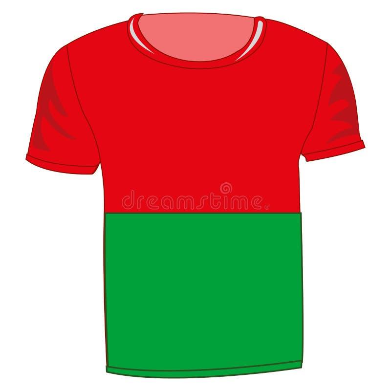 T恤杉旗子马达加斯加 皇族释放例证