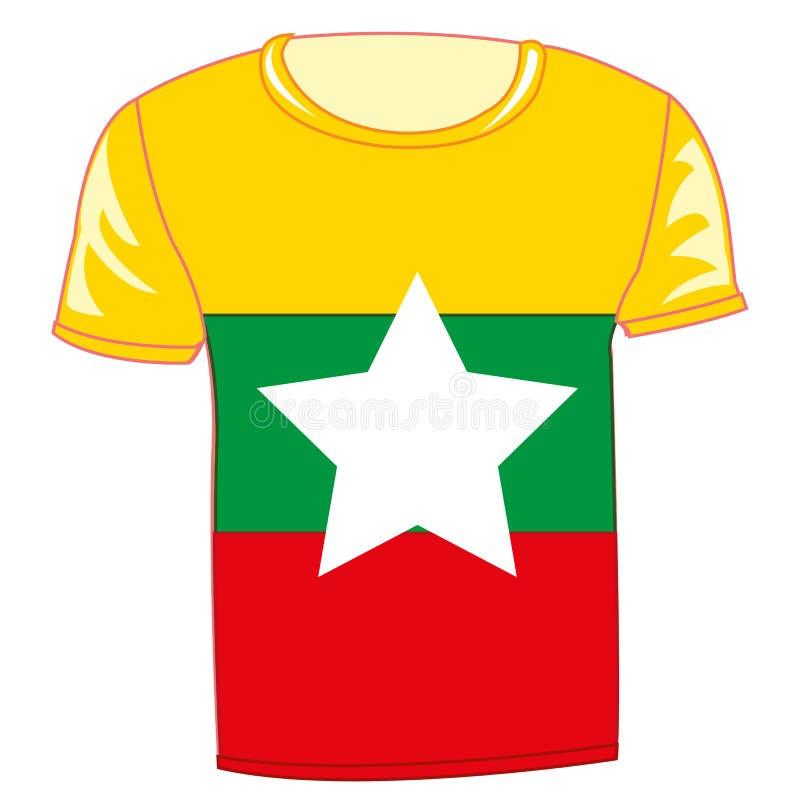 T恤杉旗子Miyanma 向量例证