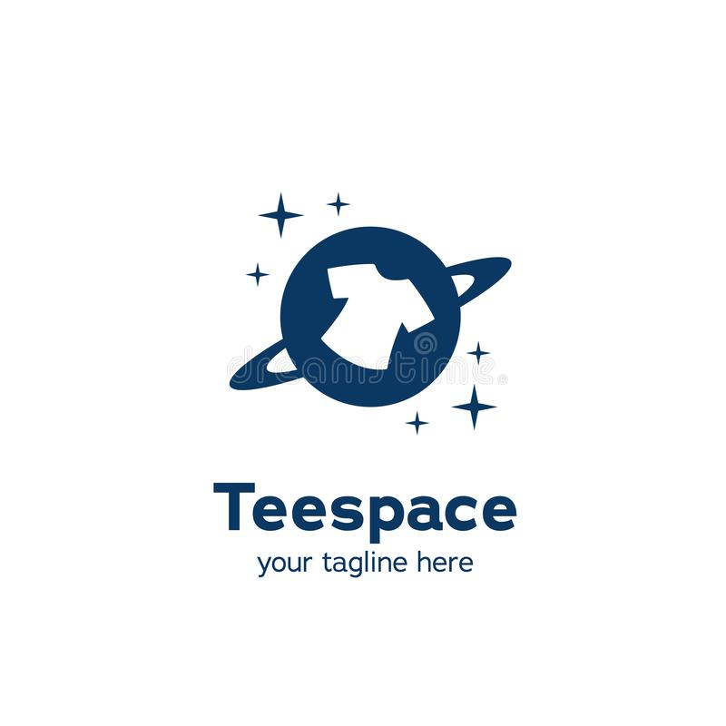 T恤行星空间标志图标符号简单矢量 库存例证