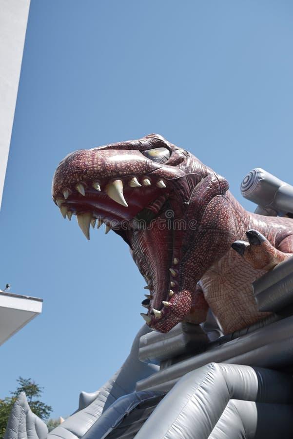 T雷克斯inflatables玩具 免版税库存照片