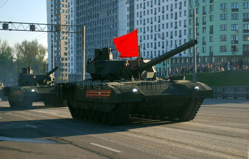 T-14最新的俄国主要Armata坦克  免版税库存图片