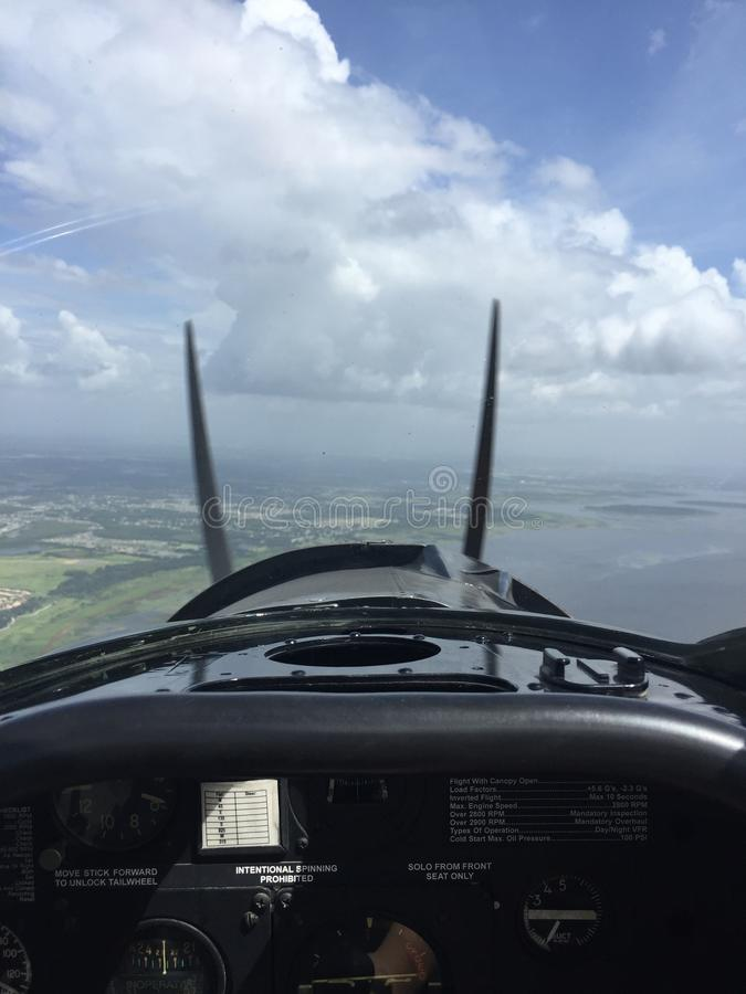 T6 τεξανό αεροπλάνο επάνω στον αέρα στοκ φωτογραφίες